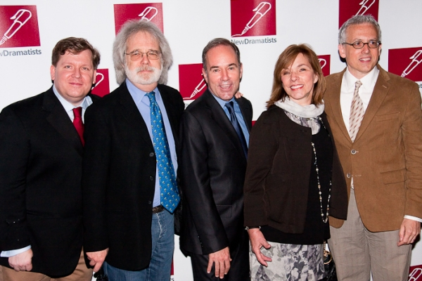 David Lindsay-Abaire, John Weidman, Stephen Flaherty, Marsha Norman, and Donald Margulies