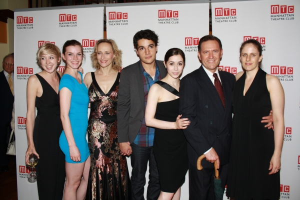Polly Stenham, Betty Gilpin, Laila Robins, Christopher Abbott, Cristin Milioti, Victor Slezak & Sarah Benson at THAT FACE Opens Off-Broadway