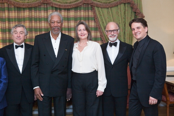 Robert De Niro, Morgan Freeman, Cherry Jones, Ed Harris, and Keith Lockhart at De Niro, Freeman, Harris Honor The Kennedys With Boston Pops