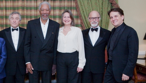 Robert De Niro, Morgan Freeman, Cherry Jones, Ed Harris, and Keith Lockhart at De Niro, Freeman, Harris Honor The Kennedys With Boston Pops