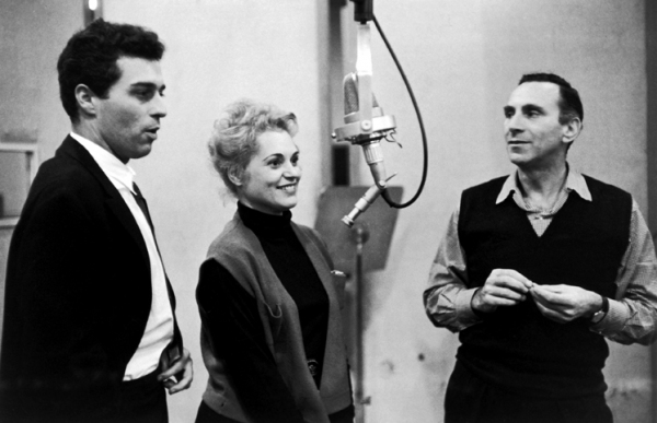 Bells Are Ringing: Sydney Chaplin, Judy Holliday, and Goddard Lieberson Photo