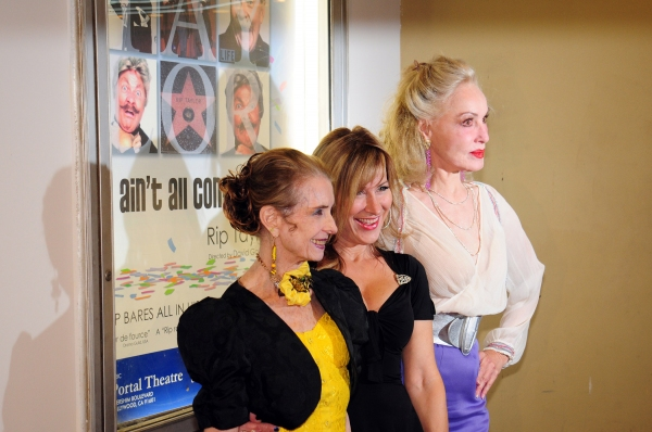 Margaret O'Brien, Lisa Ann Walter and Julie Newmar