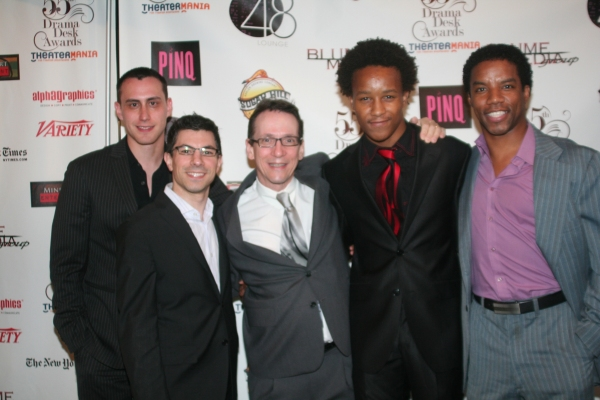 Paul Masse, Drama Desk Awards guest, Drama Desk Awards guest, Kendrick Jones and  Rodney Hicks