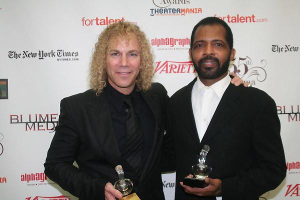 David Bryan and Daryl Waters at 2010 Drama Desk Awards Press Room