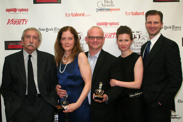 Edward Albee, Hallie Foote, Michael Wilson, Maggie Lacey and Bill Heck