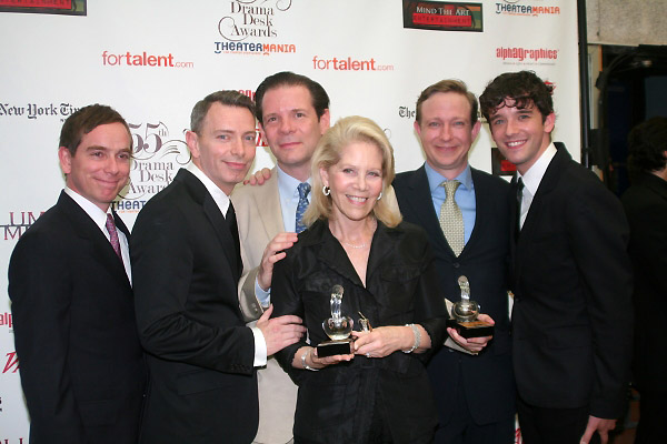 Sam Breslin Wright, Matthew Schneck, Thomas Jay Ryan, Daryl Roth, Arnie Burton and Michael Urie