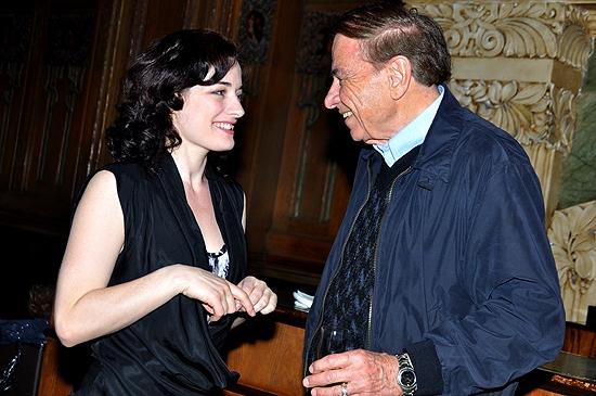 Laura Michelle Kelly and Richard M. Sherman at Richard M. Sherman Visits MARY POPPINS