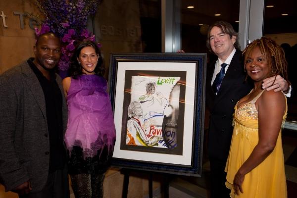 Artist Chaz Guest, Liz Levitt Hirsch, Jimmy Webb and Thelma Houston
