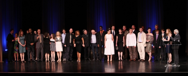 Edward Albee with Hallie Foote an the ensemble from THE ORPHAN'S HOME CYCLE