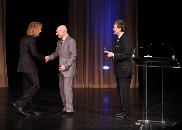 David Bryan, Michael Cerveris and Boyd Gaines