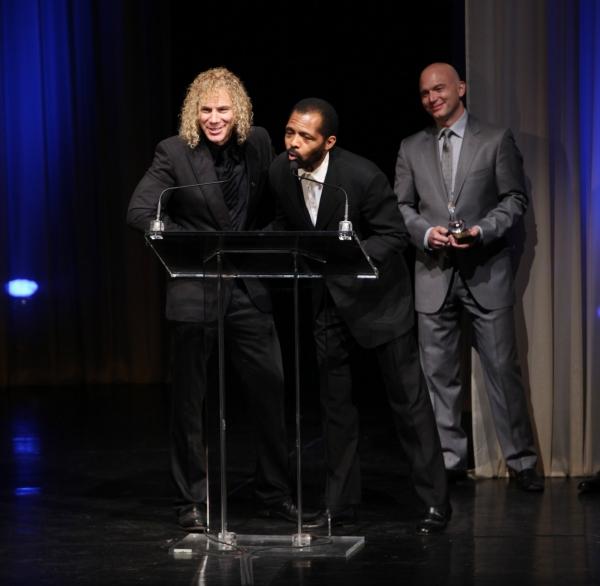 David Bryan, Daryl Waters and Michael Cerveris  at 2010 Drama Desk Awards Ceremony - Part 1