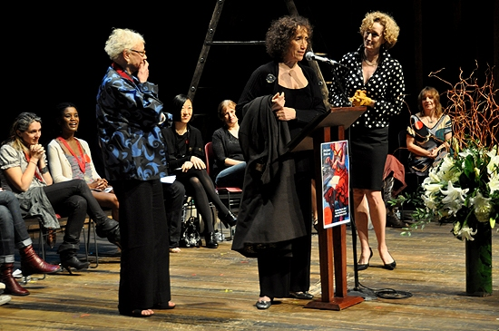 Jane Greenwood, Lisa Baines & Susan Birkenhead  at 2010 Lilly Awards