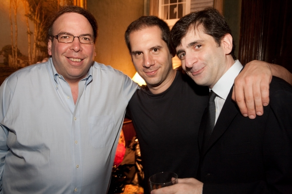 Mark Saks, Seth Herzog, Jonathan Marc Sherman at Rapkin's Pre-Release 'Theater Geek' Party