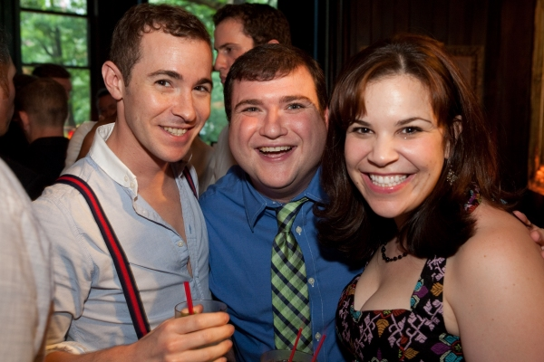 Stephen Agosto, Todd Buonopane and Lindsay Mendez at Rapkin's Pre-Release 'Theater Geek' Party
