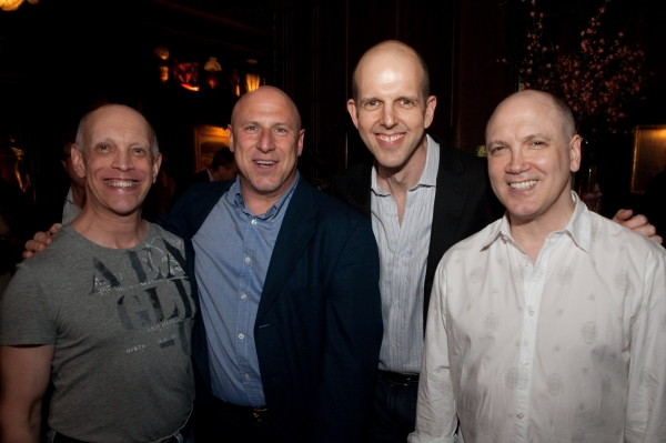 Andy Halliday, Peter Green, Jeff Blumenkrantz and Charles Busch at Rapkin's Pre-Release 'Theater Geek' Party