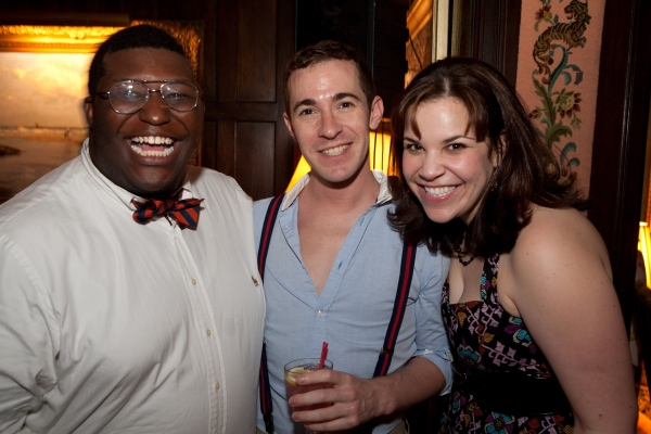 Larry Owens, Stephen Agosto and Lindsay Mendez