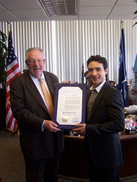Mayor Oscar Goodman with Rick Faugno Photo