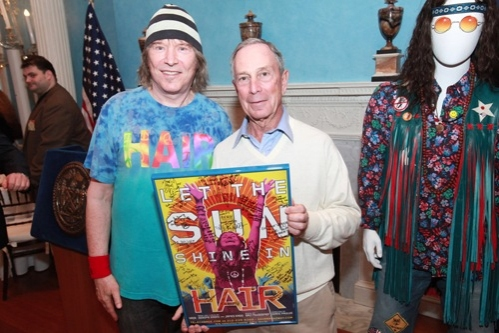James Rado and Mayor Bloomberg