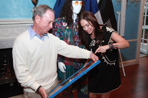 Mayor Bloomberg and Diana DeGarmo at Bloomberg Honors HAIR at Gracie Mansion