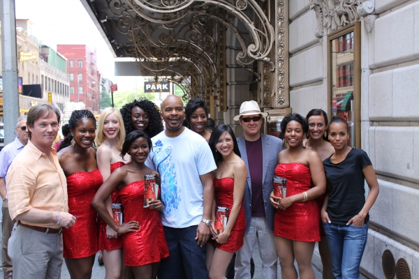 Richard Thomas, Kerry Washington, Alan Grier, James Spader and the Red Sequined Dress Ladies at RACE Stars Promote Show with 'Red Sequined Dress Ladies'