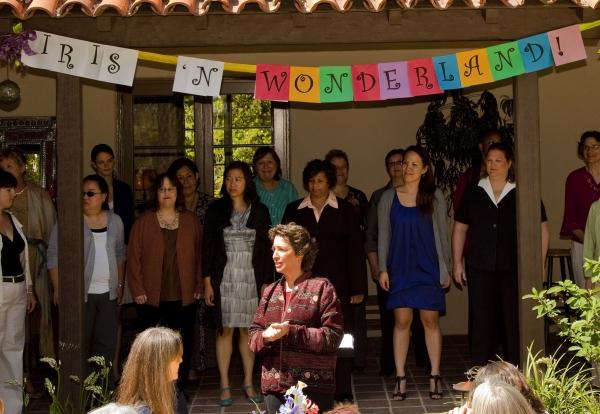 Dr. Iris Levine introduces the ladies of Vox Femina Los Angeles