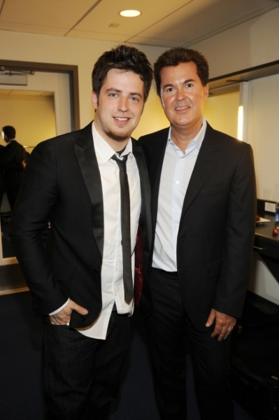 Lee Dewyze and Simon Fuller