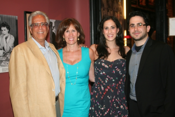BroadwayWorld.com's Editor-in-Chief Robert Diamond with Jennifer Hallie Rosen (Diamond) and her parents James Rosen and Robin Rosen