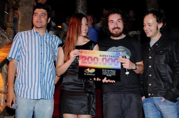 Tony Aguilar, Leire, Xavi San Martín y Pablo Benegas