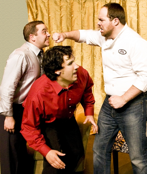 Paul Valleau as Robert, Josh Visnapuu as Bernard, and Micheal Davenport