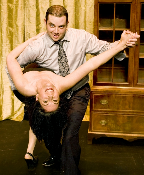 Karen Schaeffer as Suzette and Paul Valleau