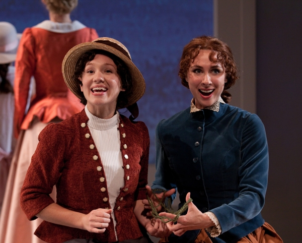 Liz Filios as Celeste #1 and Caroline Dooner as Celeste #2 Photo
