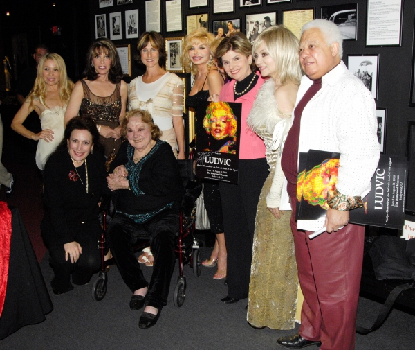 EG Daily, Donelle Dadigan, Kate Linder, Rose Marie, Cathy Silvers, Loni Anderson, Gloria Allred, Judy Tenuta and artist Ludvic