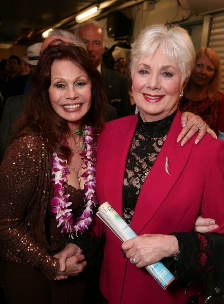 BarBara Luna (L) (original Broadway cast) and actress Shirley Jones