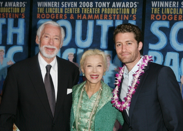 John Kerr, France Nuyen (Lt. Cable and Liat in the film) pose with Matthew Morrison
