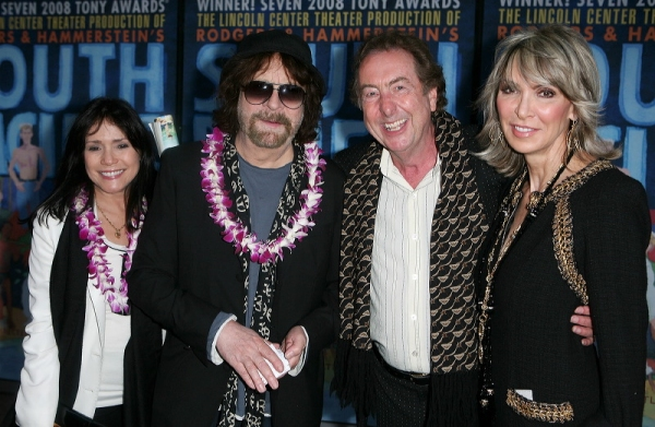 Camelia Kath, Jeff Lynne (from the band ELO), actor Eric Idle and wife Tania Kosevich Idle