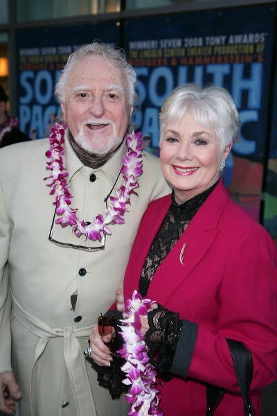 Marty Ingels (L) and actress Shirley Jones