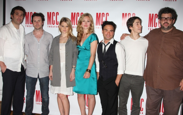 Craig Bierko, Julia Stiles, Johnny Galecki, Justin Long and the cast of FILTHY TALK with Neil LaBute at Bierko, Stiles et al. Launch LaBute's FILTHY TALK Readings at MCC