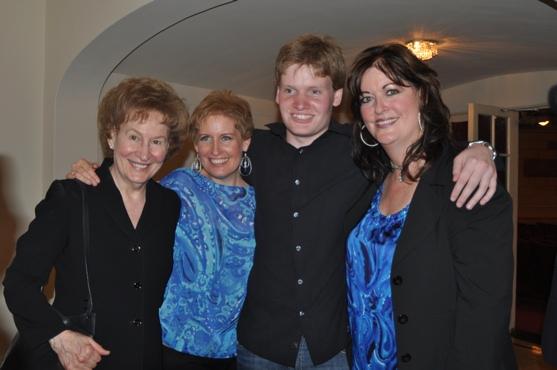 Shirley Callaway, Liz Callaway, Nicholas Foster and Ann Hampton Callaway