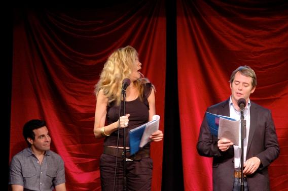 Mario Cantone, Kristen Johnson and Matthew Broderick