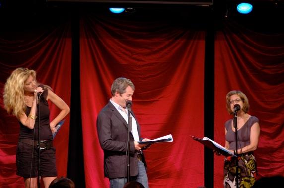 Kristen Johnson, Matthew Broderick and Jackie Hoffman