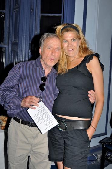 Dick Cavett and Kristen Johnson