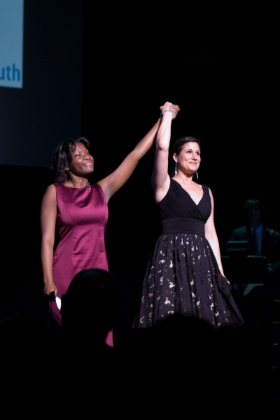 Photo Flash: Laura Bush Honored by Covenant House Youth & Broadway Stars