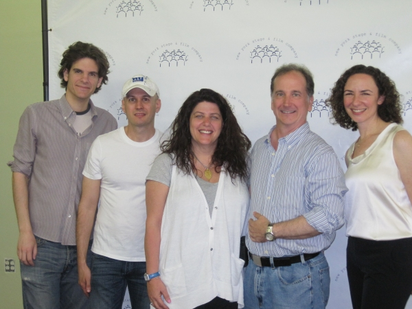 Alex Timbers, Keith Bunin, Sheryl Kaller (Collaborators for the 2010 season), with founder Mark Linn-Baker and Artistic Director Johanna Pfaelzer