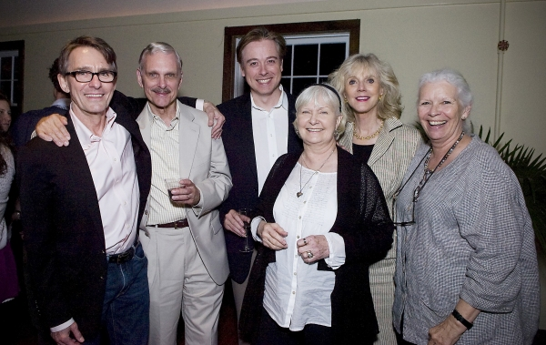 Mark Lamos, Playhouse artistic director; Keir Dullea, host; Mark Shanahan, director; Joanne Woodward, Playhouse artistic director emeritus; Blythe Danner; and Anne Keefe, curator of the Script in Hand series