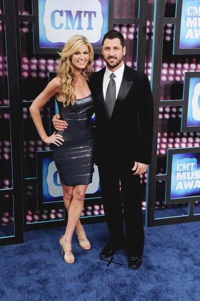 Erin Andrews and Maksim Chmerkovskiy  at CMT Awards Red Carpet Arrivals!