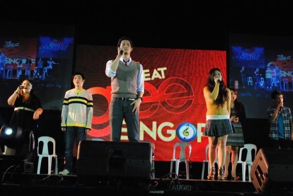 Trumpets Playshop alumni (Enrique Canoy, Pamela Imperial, Fred Lo, Nathania Tan Manalang, Jay Pangilinan)