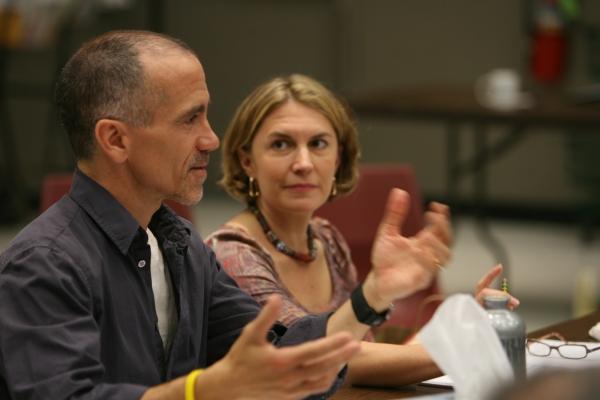 Henry Godinez and Karen Zacarías