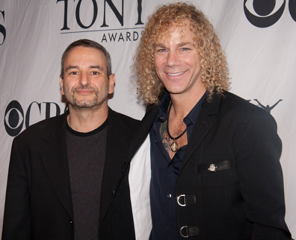 Joe DiPietro and David Bryan at Tony Eve Cocktail Party