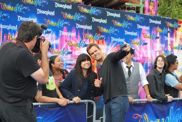 Cameron Mathison with fans at On the 'Blue Carpet' for Disney's WORLD OF COLOR