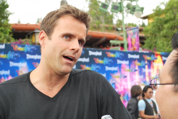 Cameron Mathison at On the 'Blue Carpet' for Disney's WORLD OF COLOR